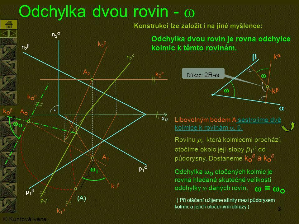 Odchylka dvou rovin - w w = wO b a