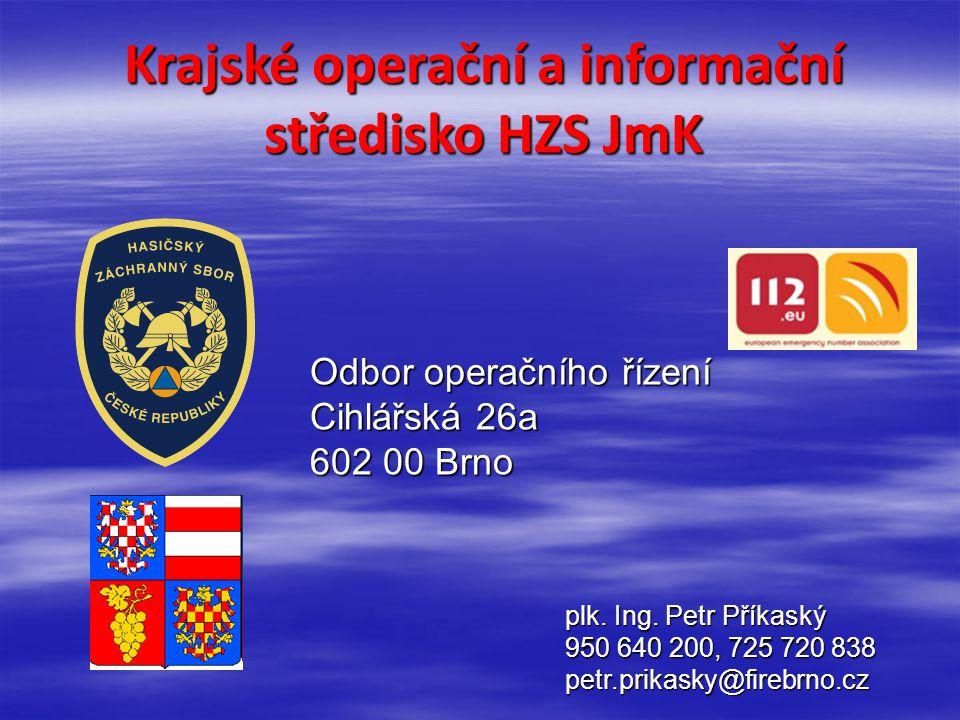 Krajské operační a informační středisko HZS JmK