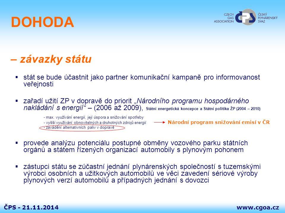 DOHODA – závazky státu. stát se bude účastnit jako partner komunikační kampaně pro informovanost veřejnosti.