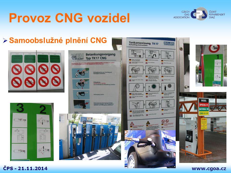 Provoz CNG vozidel Samoobslužné plnění CNG 7.4.2017