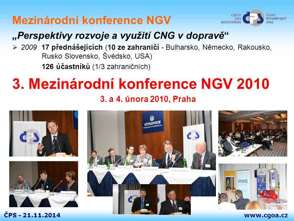 3. Mezinárodní konference NGV 2010
