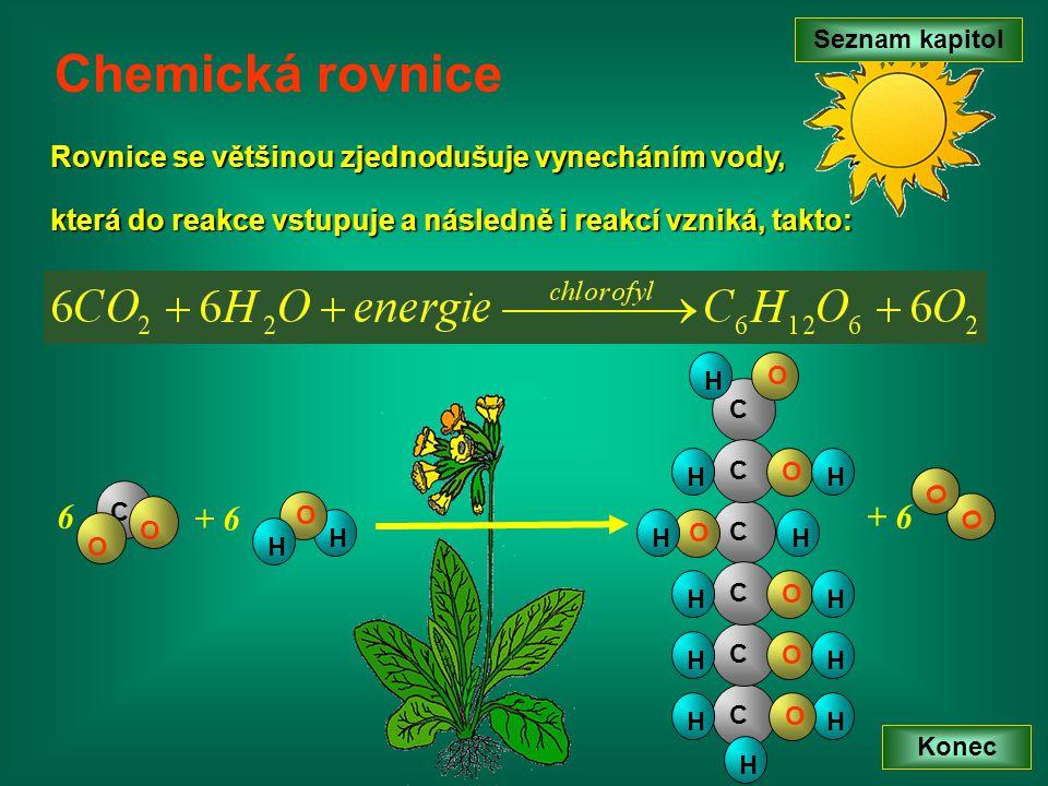 Seznam kapitol Chemická rovnice. Rovnice se většinou zjednodušuje vynecháním vody, která do reakce vstupuje a následně i reakcí vzniká, takto: