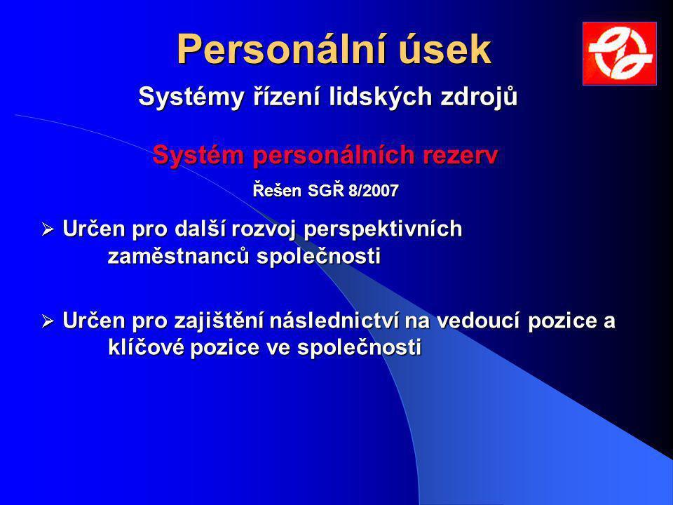 Systémy řízení lidských zdrojů Systém personálních rezerv