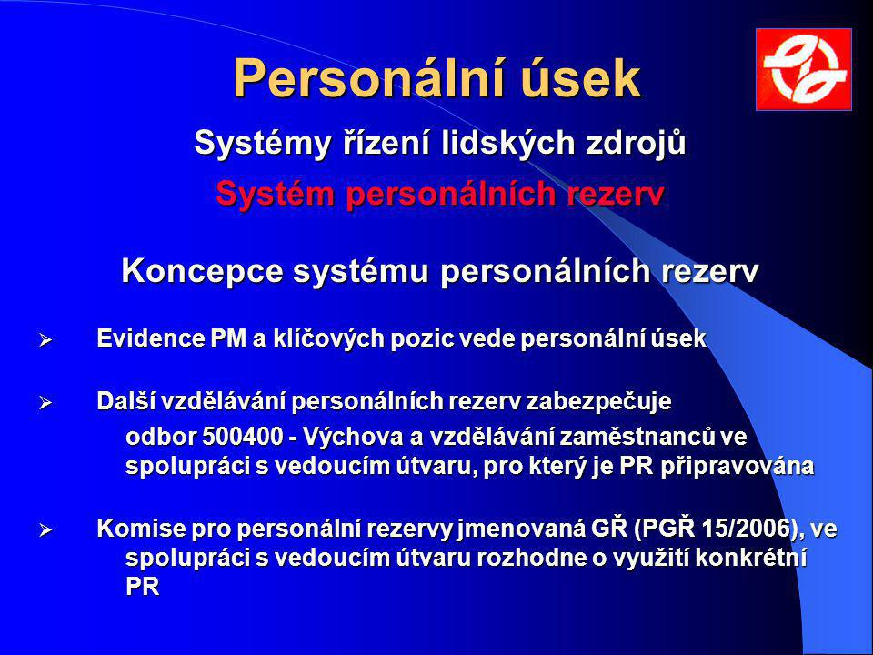 Personální úsek Systémy řízení lidských zdrojů