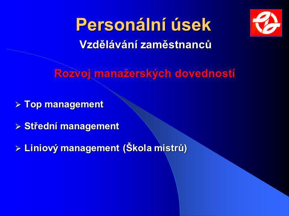 Vzdělávání zaměstnanců Rozvoj manažerských dovedností