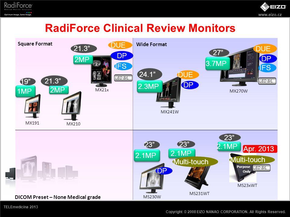 RadiForce Clinical Review Monitors