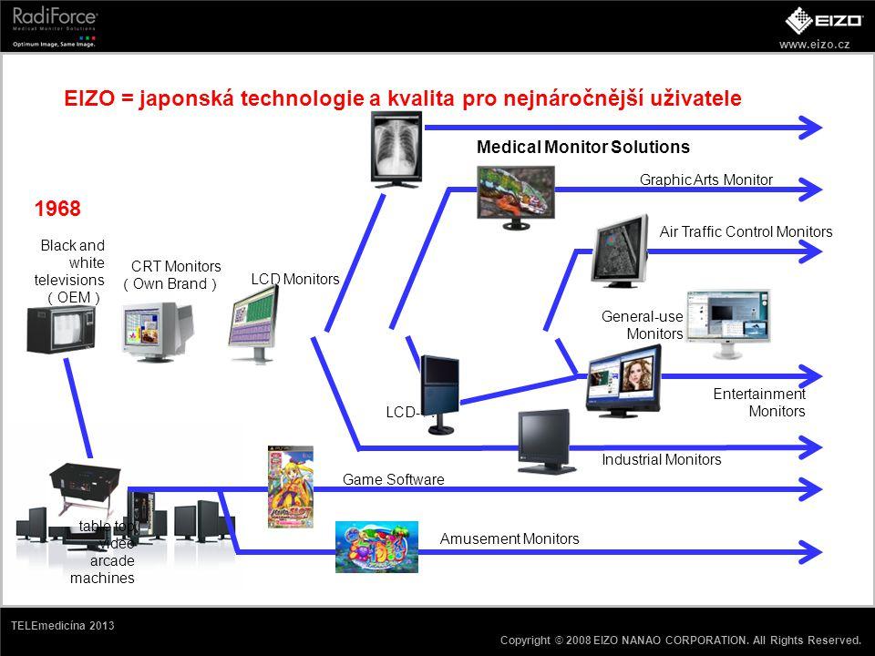 EIZO = japonská technologie a kvalita pro nejnáročnější uživatele
