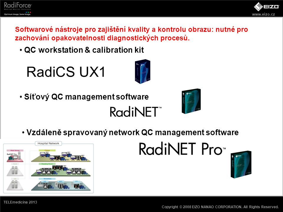 RadiCS UX1 QC workstation & calibration kit