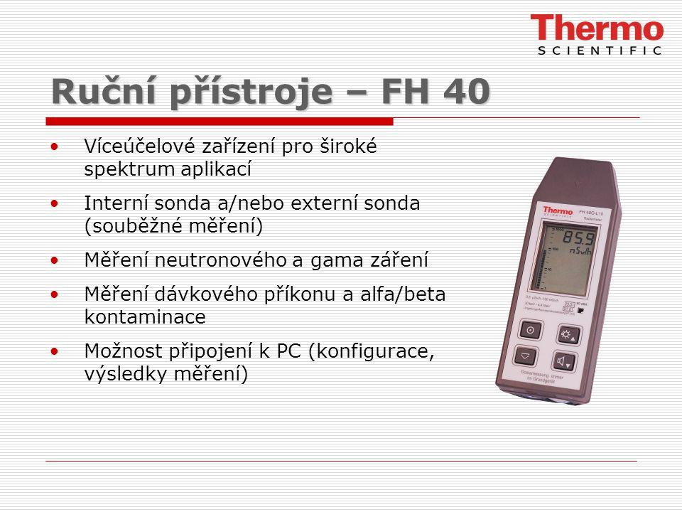 Ruční přístroje – FH 40 Víceúčelové zařízení pro široké spektrum aplikací. Interní sonda a/nebo externí sonda (souběžné měření)