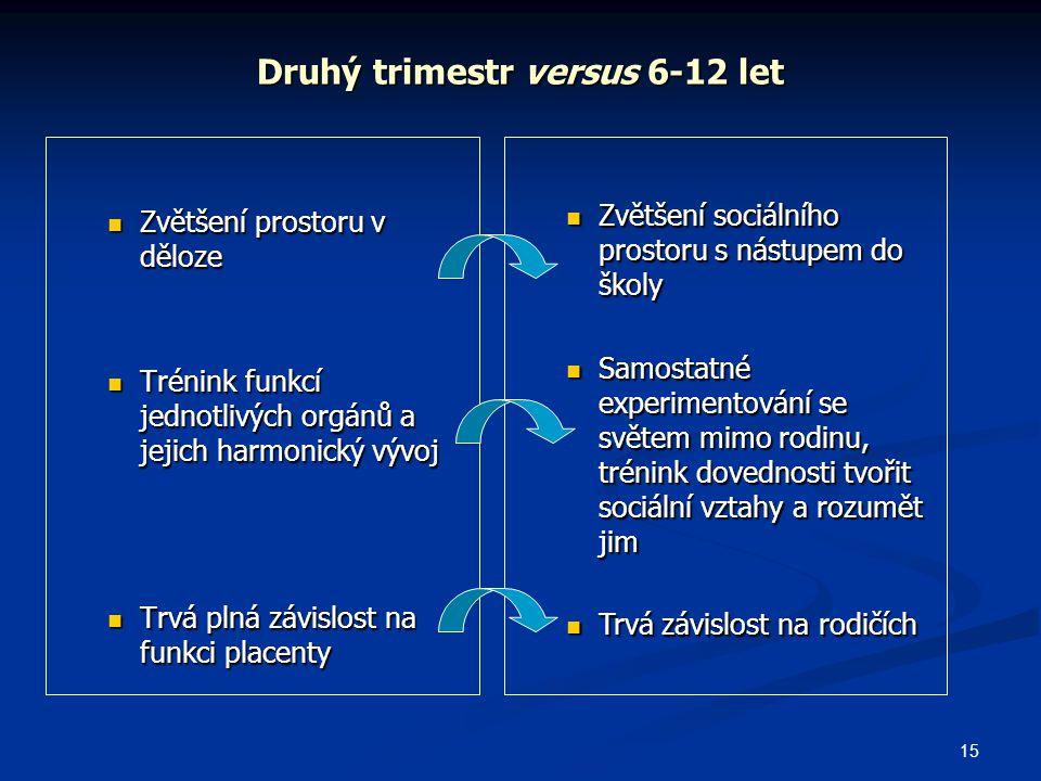 Druhý trimestr versus 6-12 let