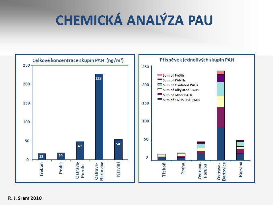 CHEMICKÁ ANALÝZA PAU Celkové koncentrace skupin PAH (ng/m3)