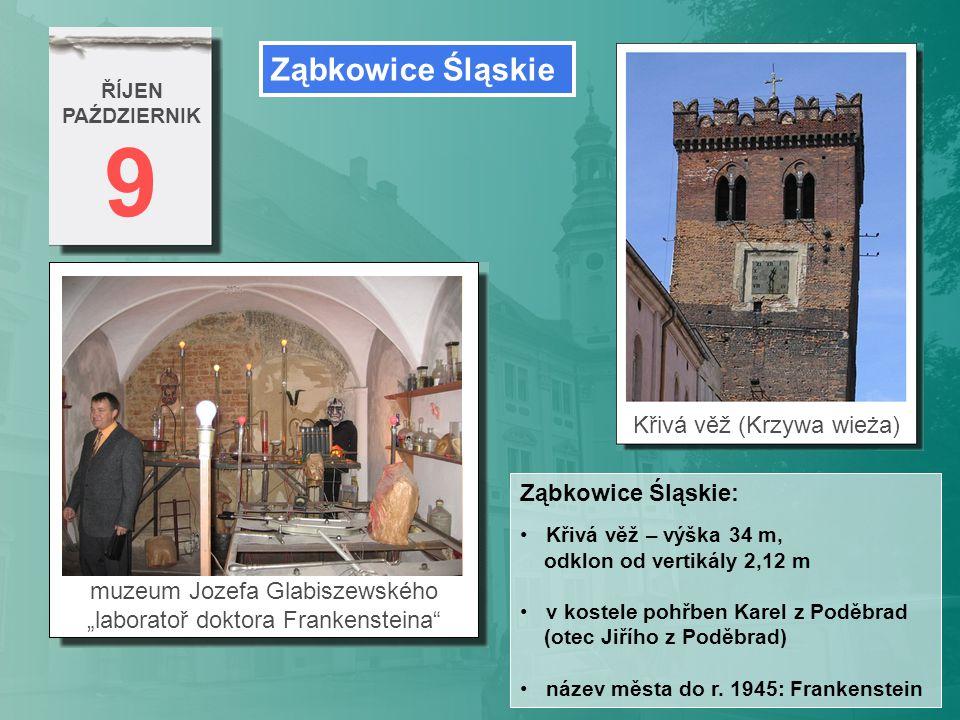 9 Ząbkowice Śląskie Křivá věž (Krzywa wieża) Ząbkowice Śląskie: