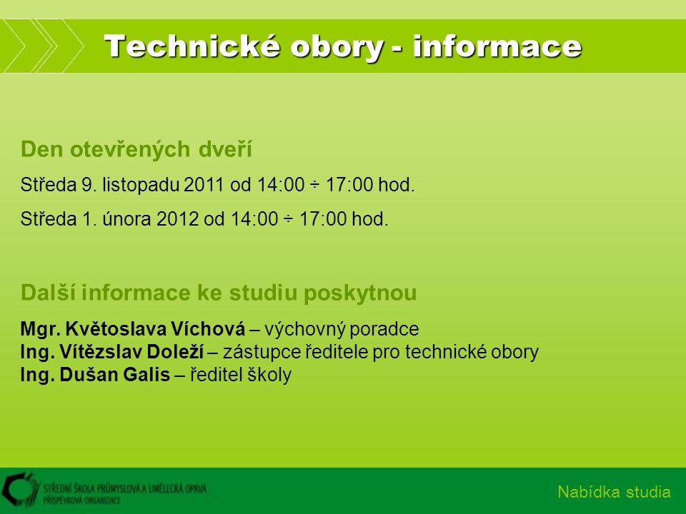 Technické obory - informace