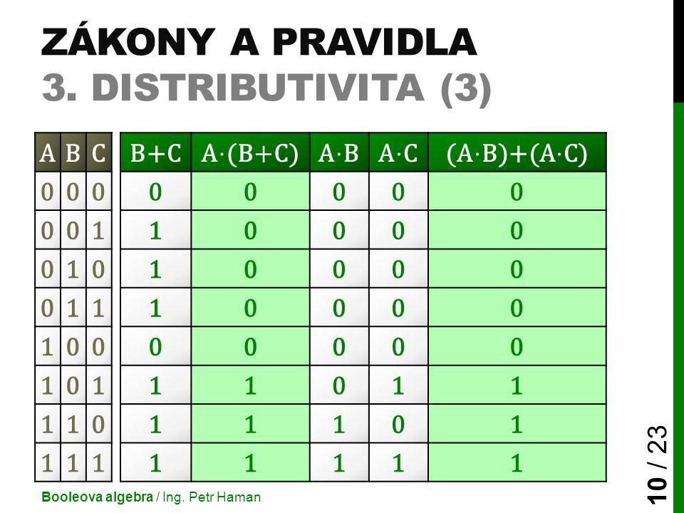 Zákony a pravidla 3. Distributivita (3)