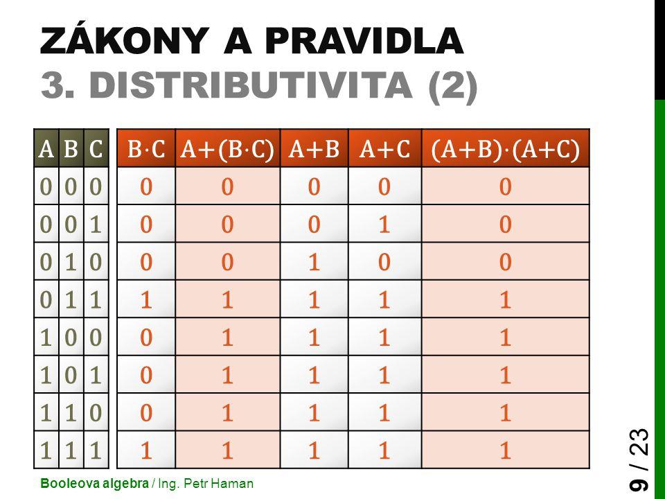 Zákony a pravidla 3. Distributivita (2)