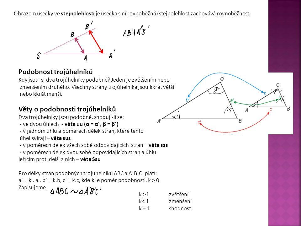 Podobnost trojúhelníků
