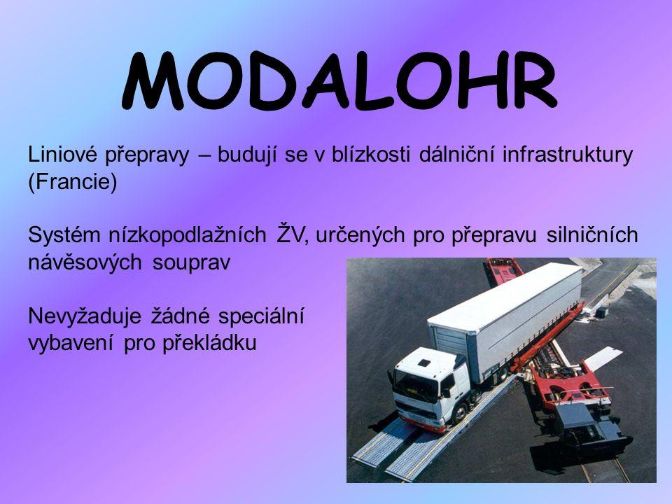 MODALOHR Liniové přepravy – budují se v blízkosti dálniční infrastruktury (Francie)