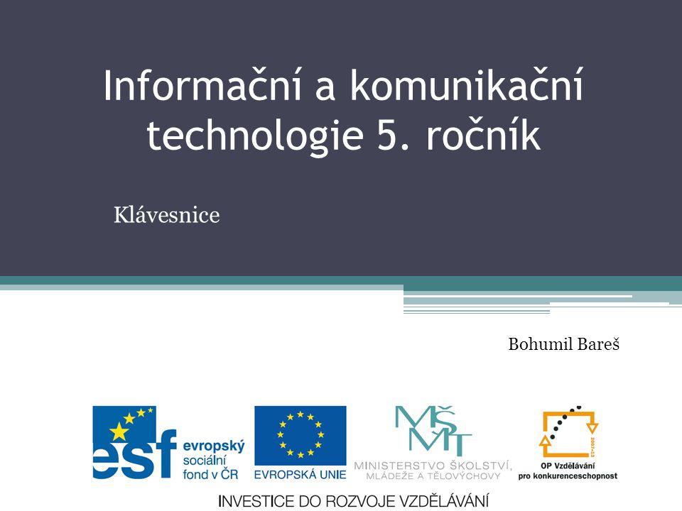 Informační a komunikační technologie 5. ročník