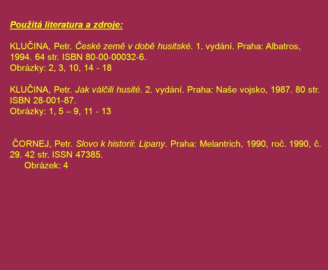 Použitá literatura a zdroje: