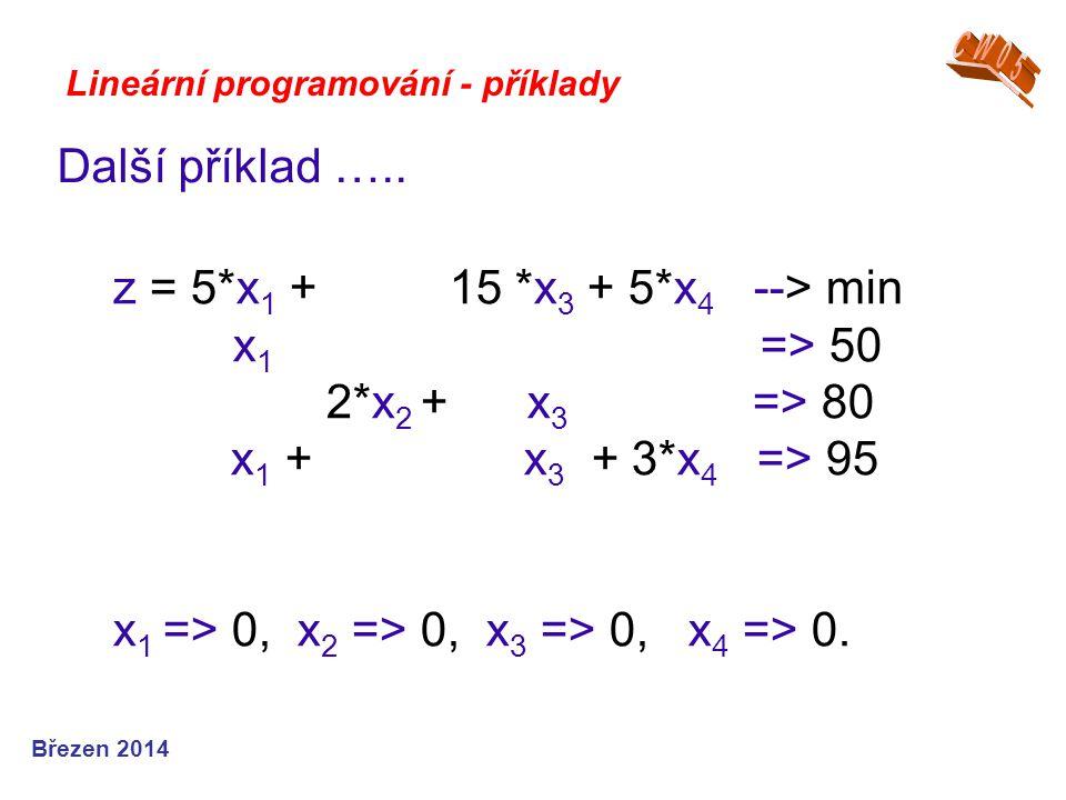x1 => 0, x2 => 0, x3 => 0, x4 => 0.