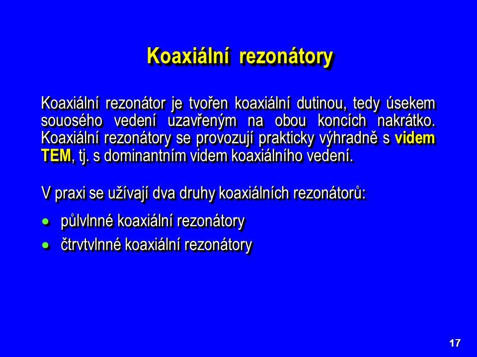 Koaxiální rezonátory