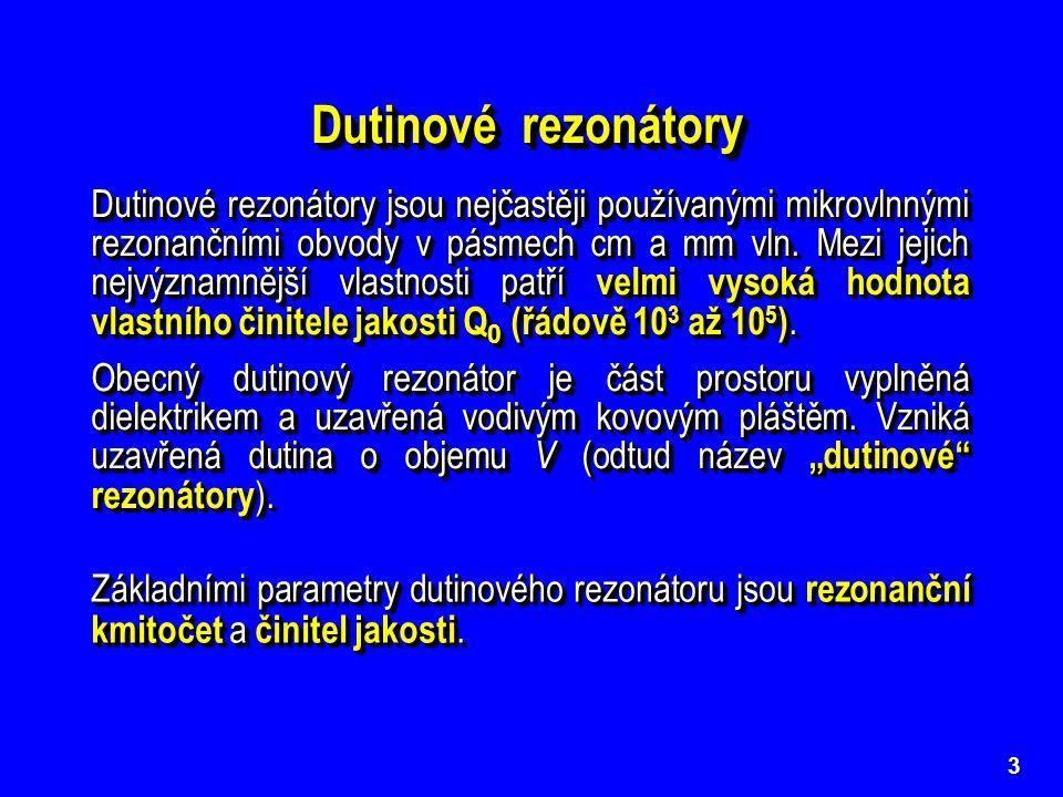 Dutinové rezonátory