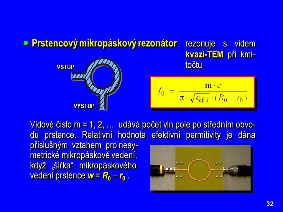 Prstencový mikropáskový rezonátor