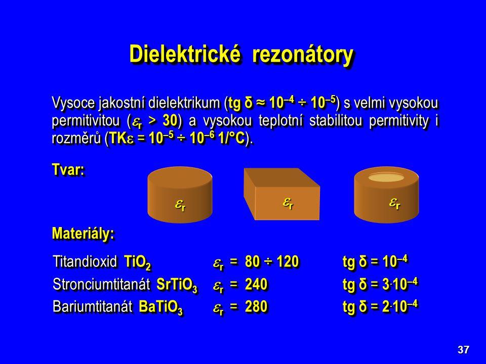Dielektrické rezonátory