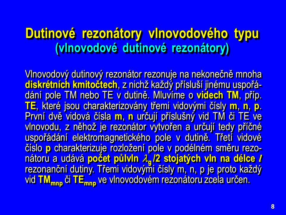 Dutinové rezonátory vlnovodového typu (vlnovodové dutinové rezonátory)