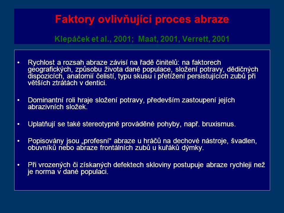 Faktory ovlivňující proces abraze Klepáček et al