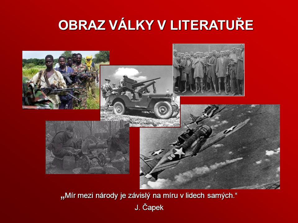 """""""Mír mezi národy je závislý na míru v lidech samých. J. Čapek"""