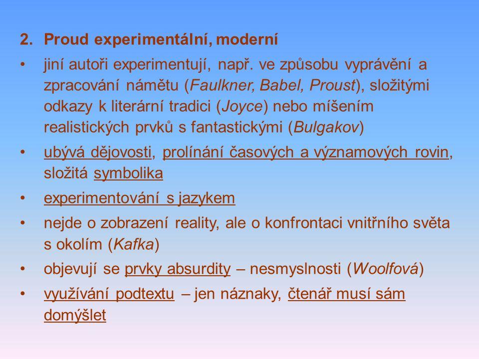 Proud experimentální, moderní