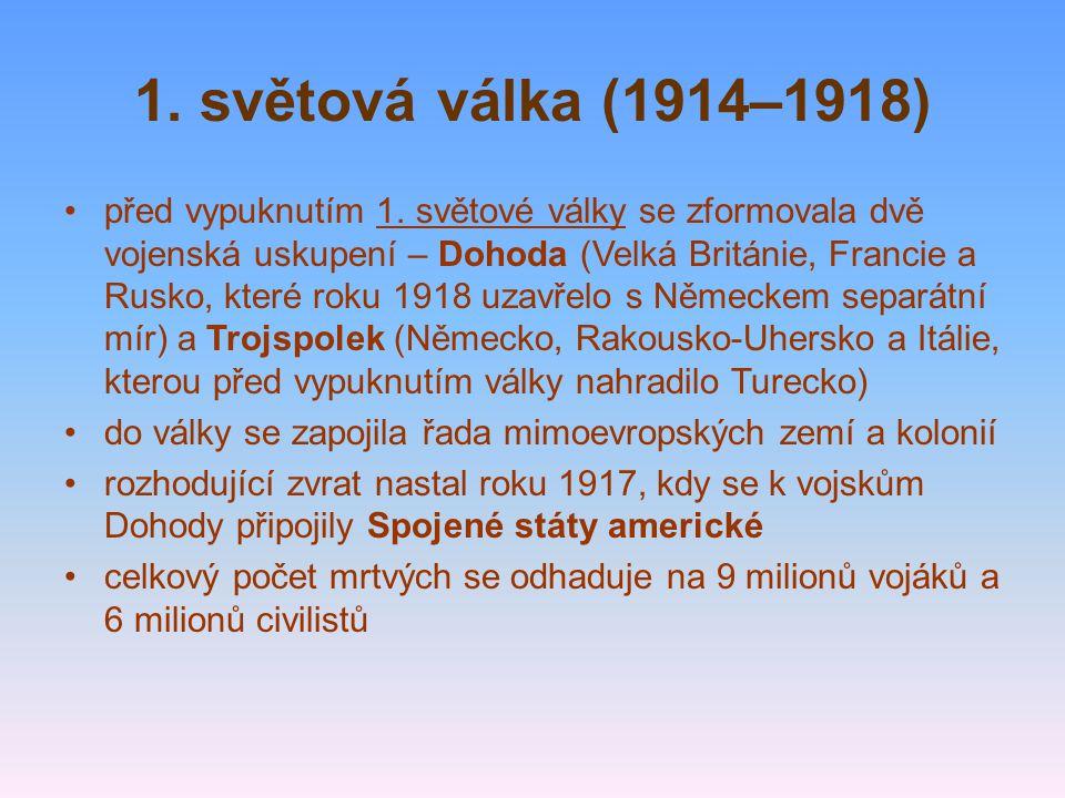 1. světová válka (1914–1918)