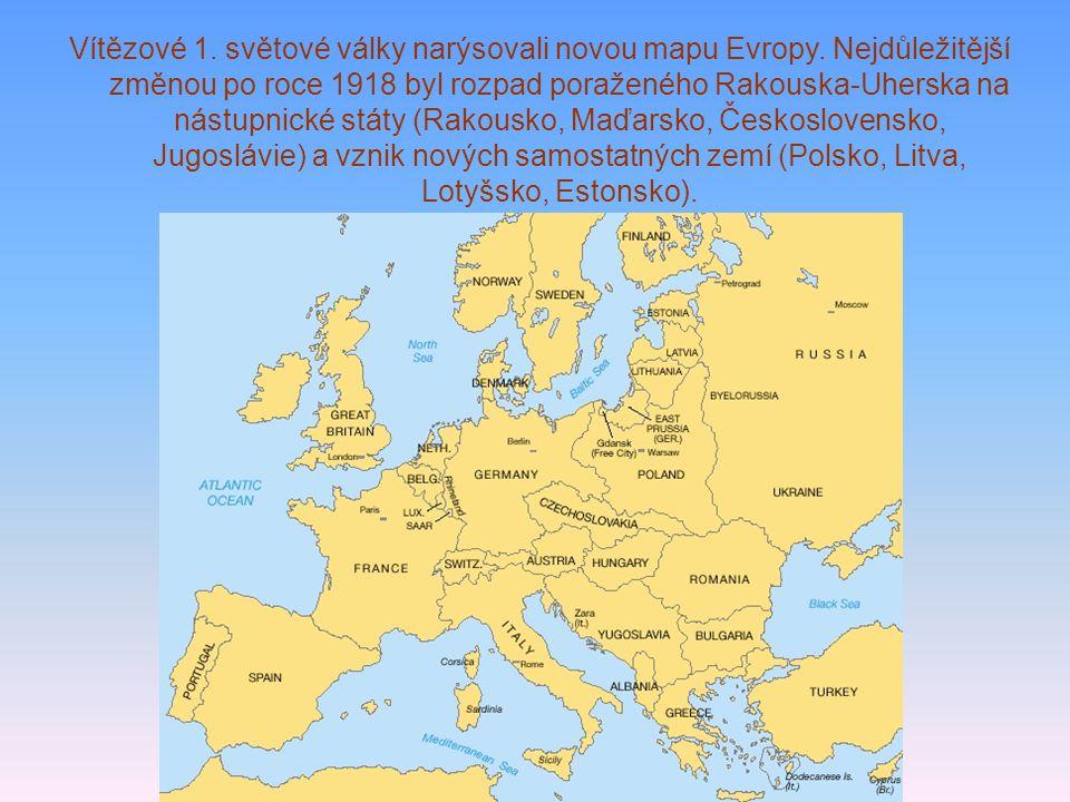 Vítězové 1. světové války narýsovali novou mapu Evropy