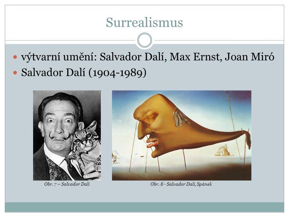 Surrealismus výtvarní umění: Salvador Dalí, Max Ernst, Joan Miró