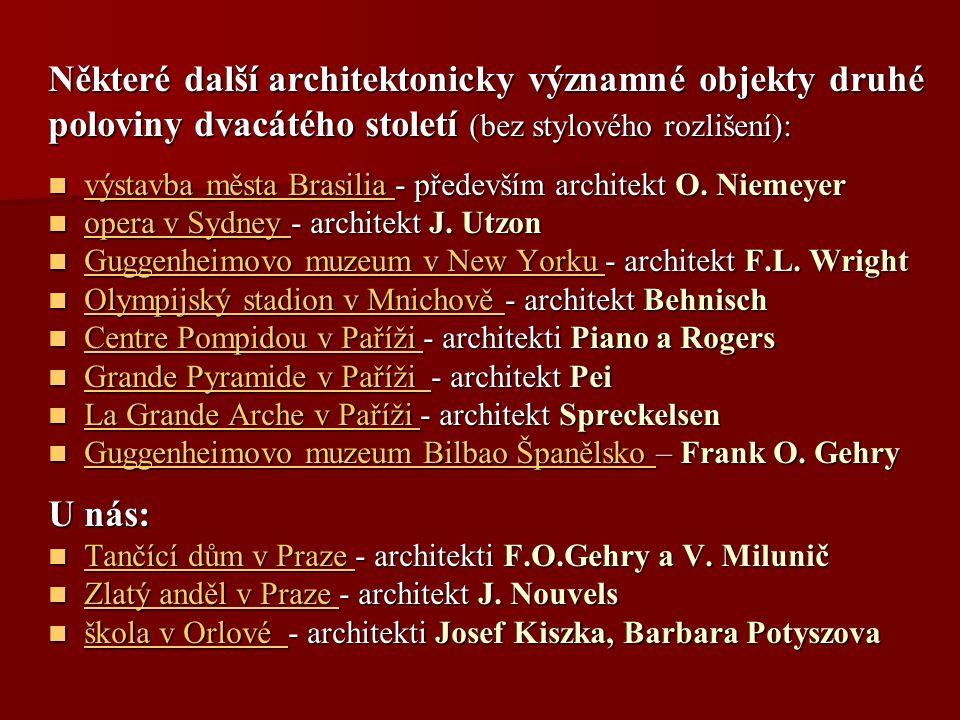 Některé další architektonicky významné objekty druhé