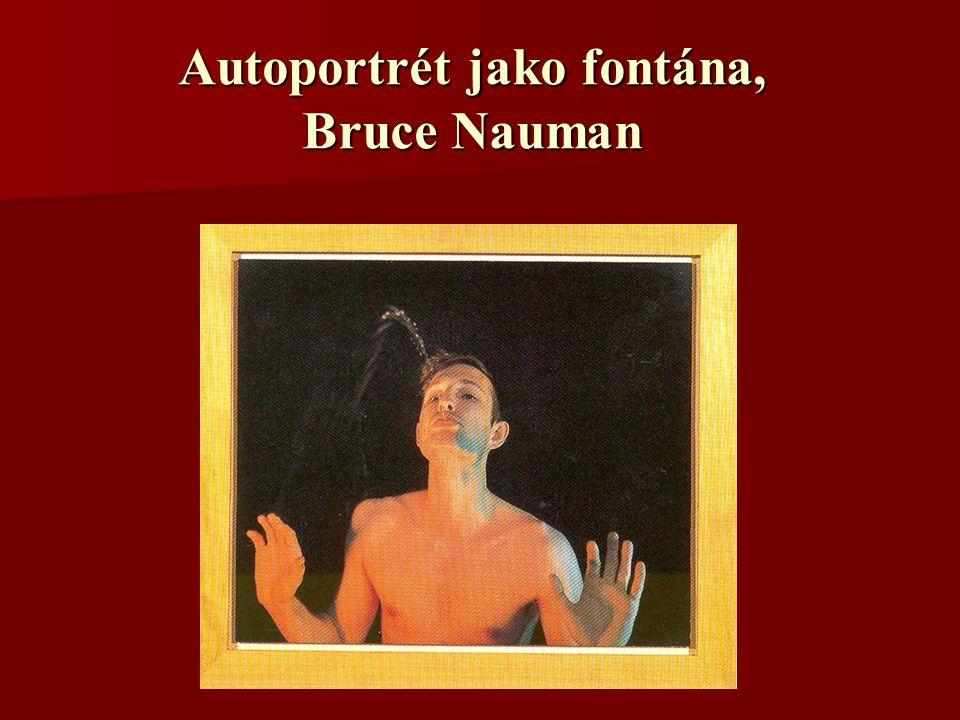 Autoportrét jako fontána, Bruce Nauman