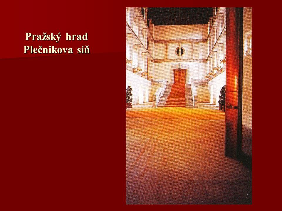 Pražský hrad Plečnikova síň