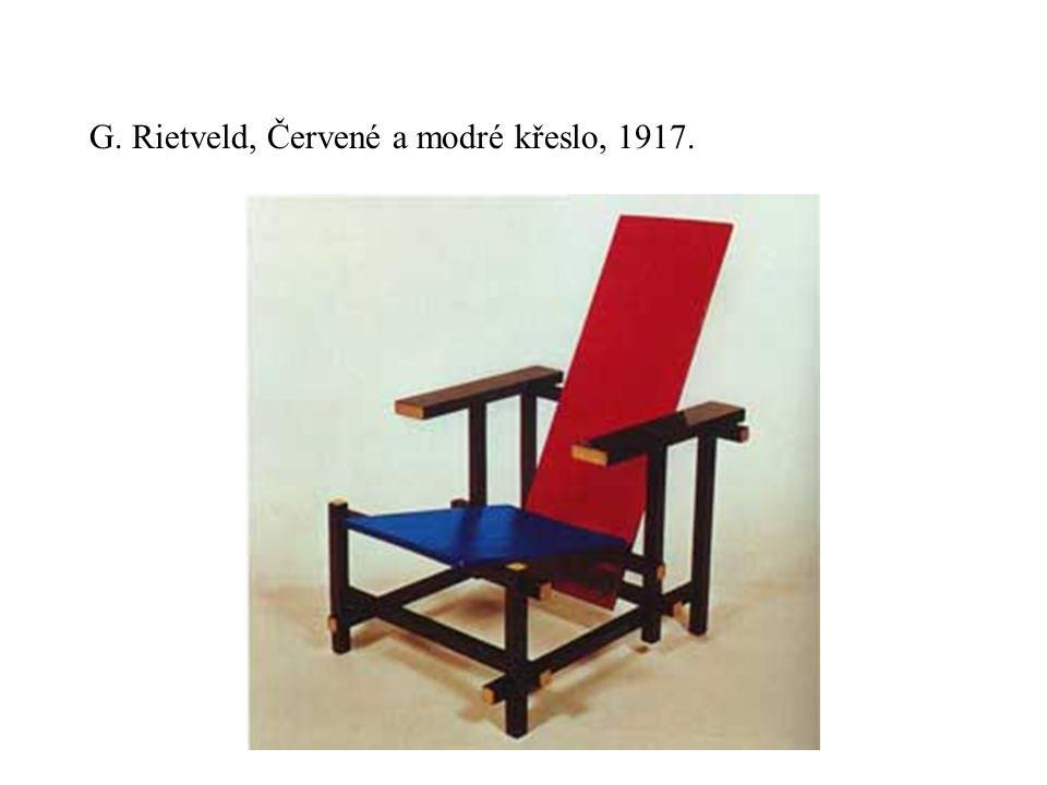 G. Rietveld, Červené a modré křeslo, 1917.
