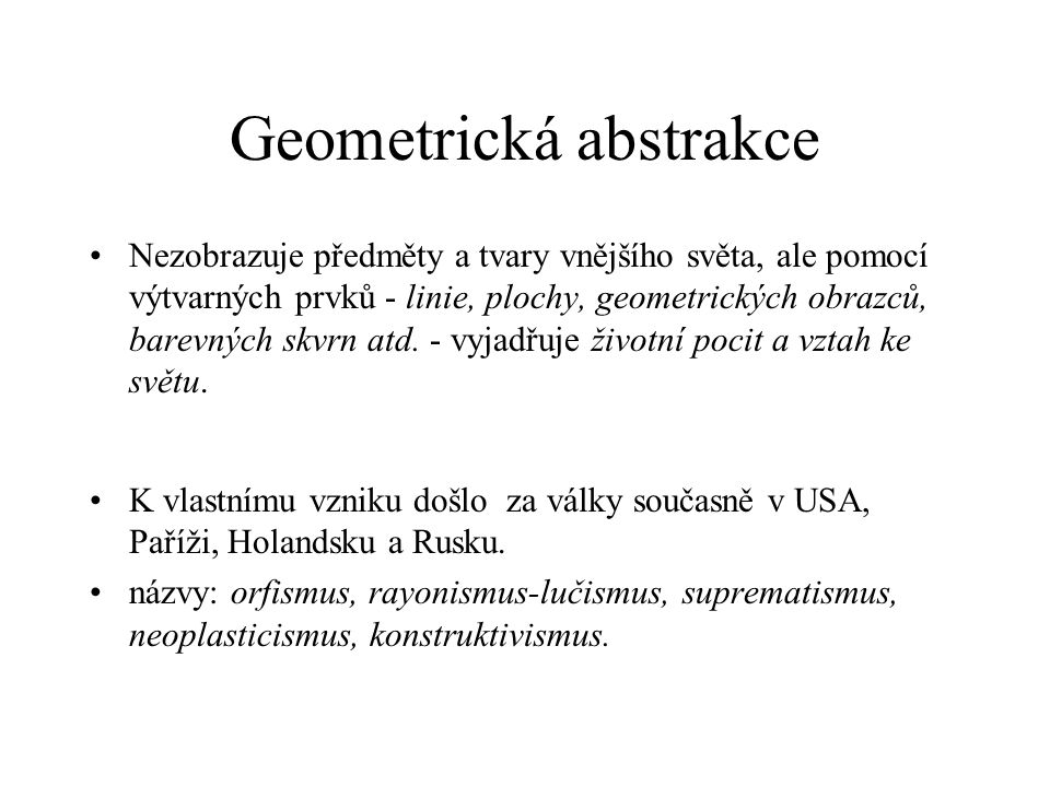 Geometrická abstrakce