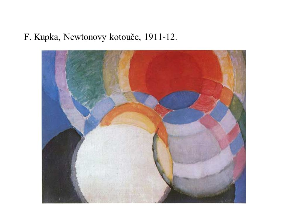 F. Kupka, Newtonovy kotouče, 1911-12.