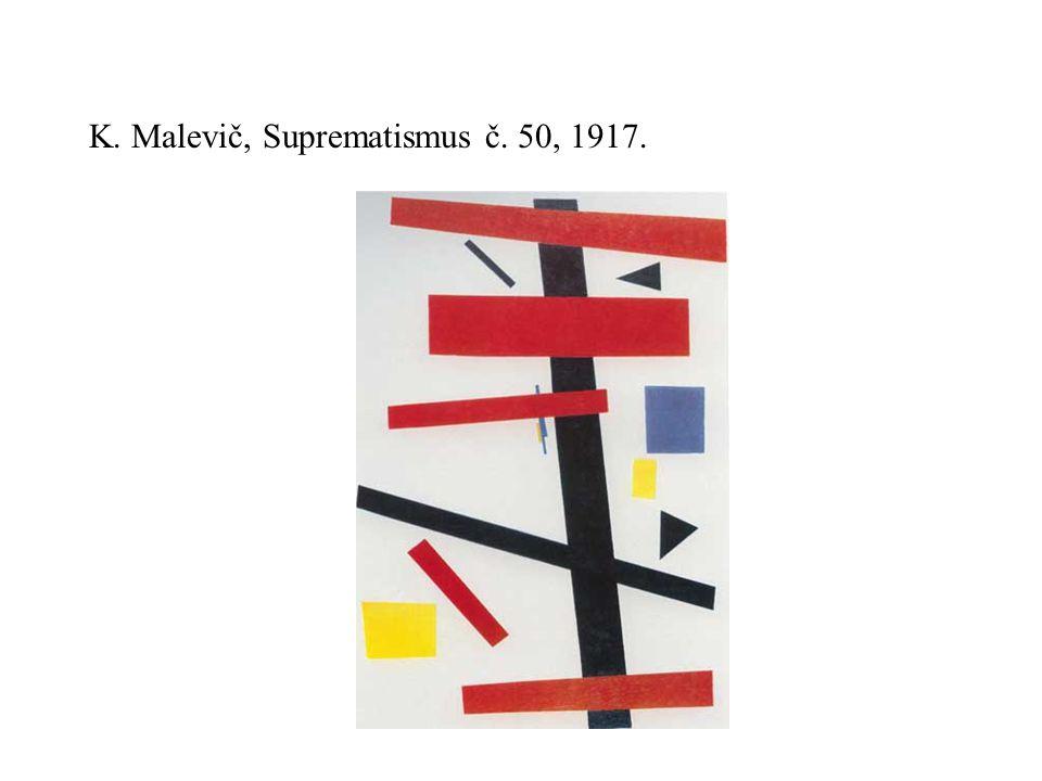 K. Malevič, Suprematismus č. 50, 1917.