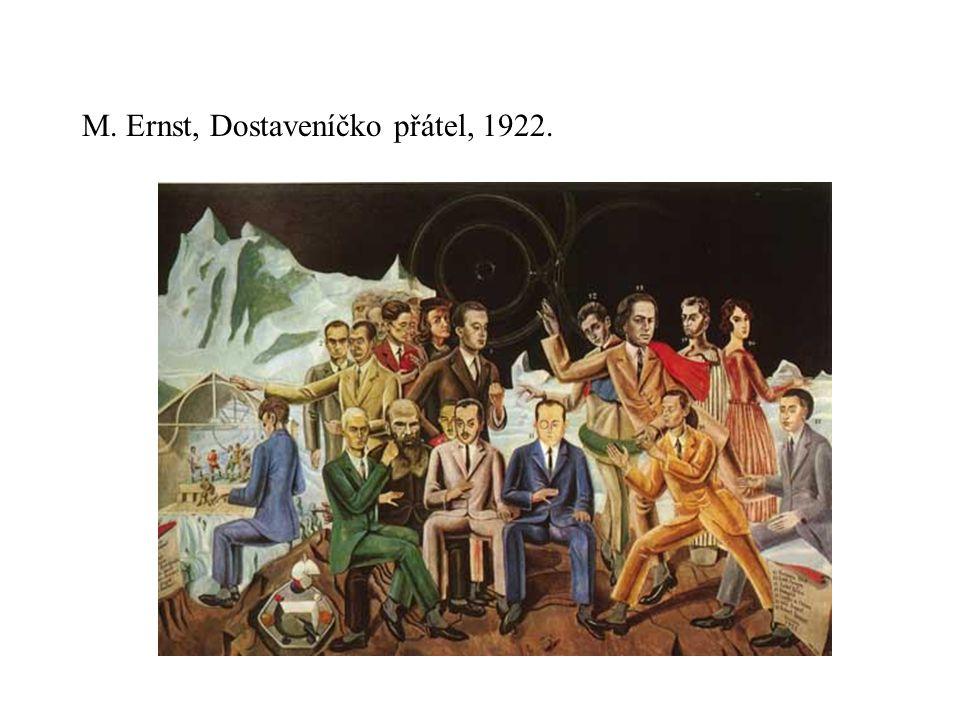 M. Ernst, Dostaveníčko přátel, 1922.
