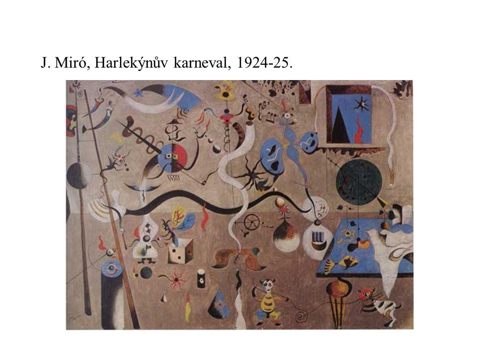 J. Miró, Harlekýnův karneval, 1924-25.