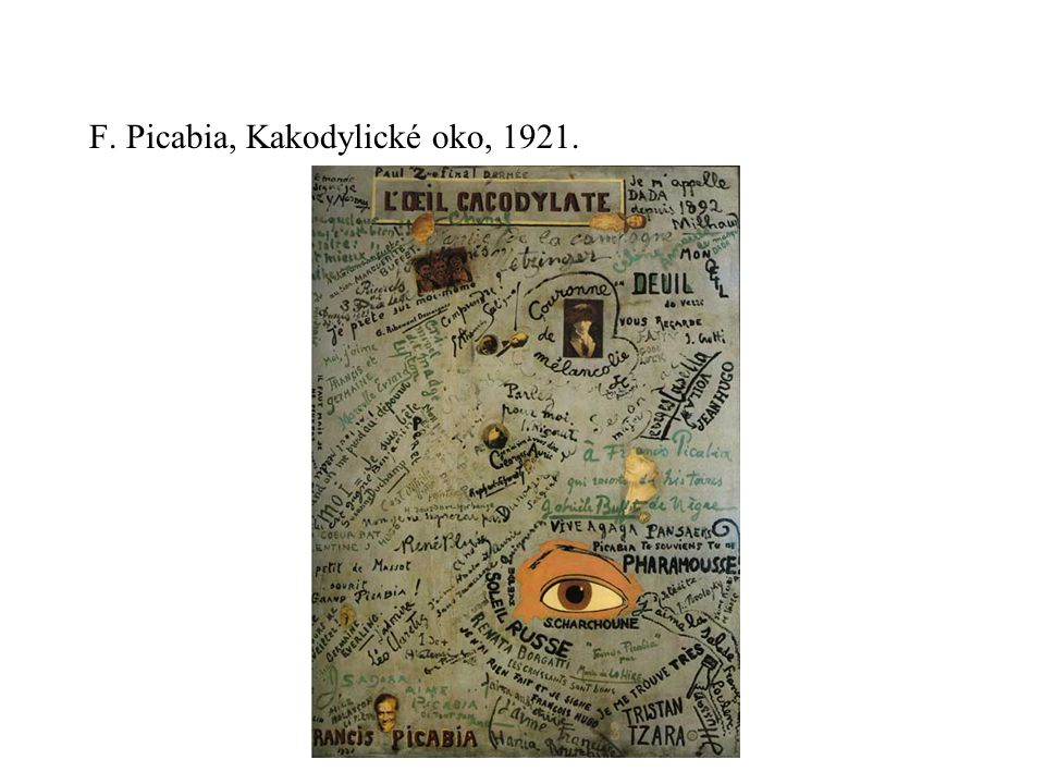 F. Picabia, Kakodylické oko, 1921.