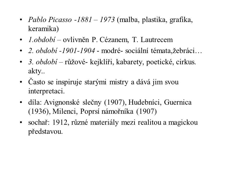 Pablo Picasso -1881 – 1973 (malba, plastika, grafika, keramika)