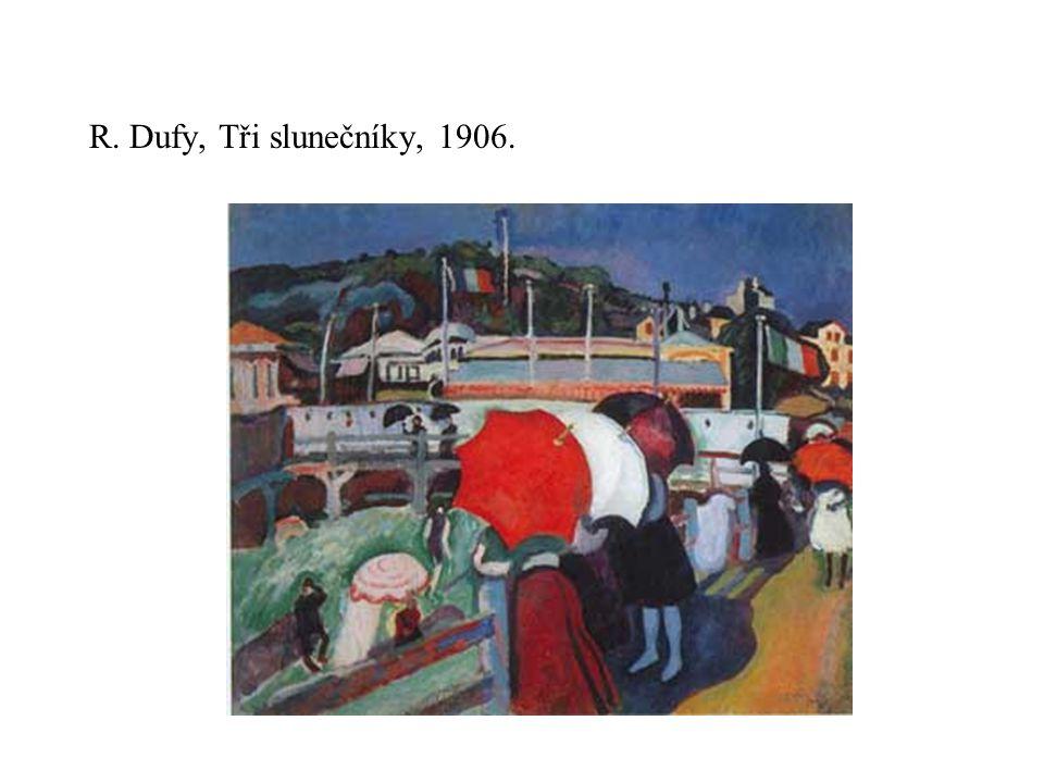 R. Dufy, Tři slunečníky, 1906.