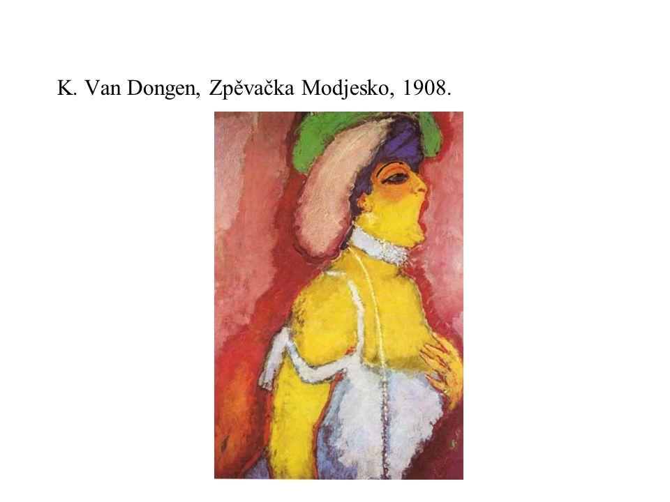 K. Van Dongen, Zpěvačka Modjesko, 1908.