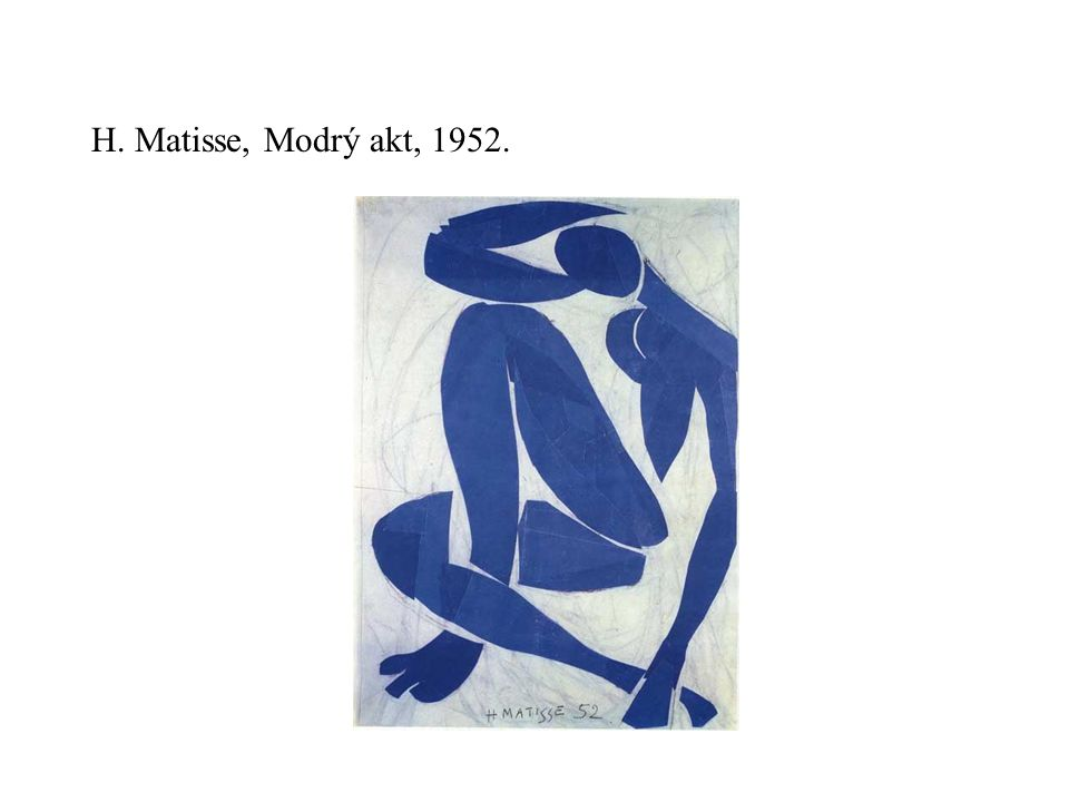 H. Matisse, Modrý akt, 1952.