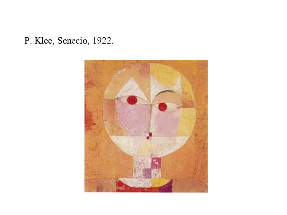 P. Klee, Senecio, 1922.